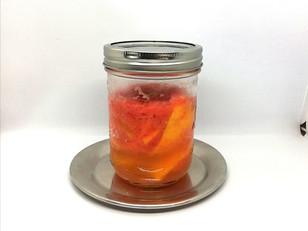 Using an Entire Grapefruit: Lacto Fermented Grapefruit Liqueur & Salt Rim