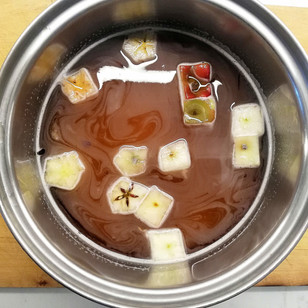Apple Core Beer Syrup & Candy Garnish