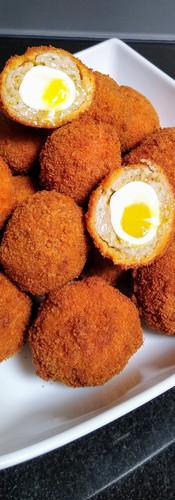 Quails egg scotch egg