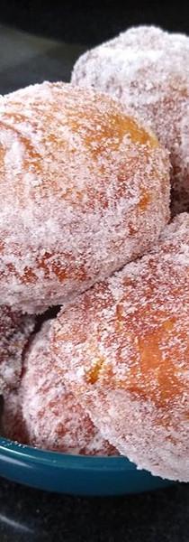 Dairy free jam doughnuts