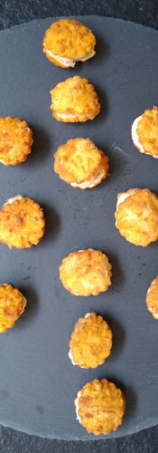 Parma Ham and ricota cheese puffs