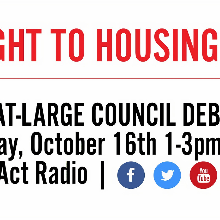 Right To Housing: DC At-Large Council Debate
