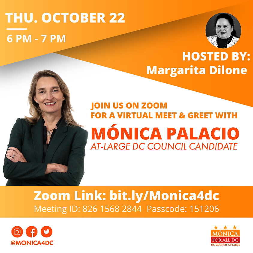 Latina Power Hour: Meet and Greet with Mónica Hosted by Margarita Dilone