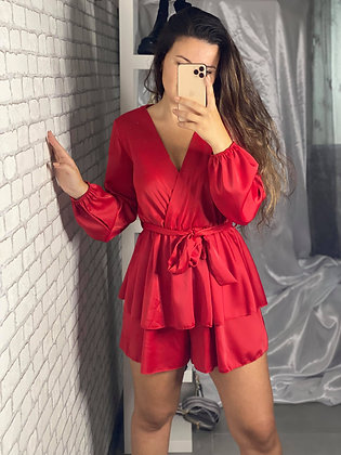 Combishort camille rouge