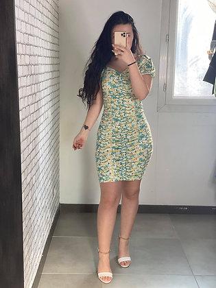 Robe Elena Jaune/Vert