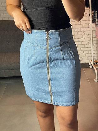 Jupe jeans fermeture