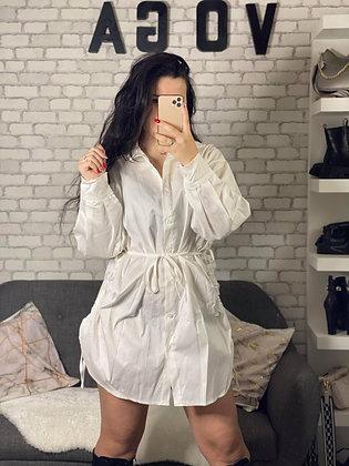 Robe Chemise cintrée blanc