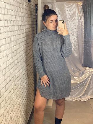 Robe pull Carole gris