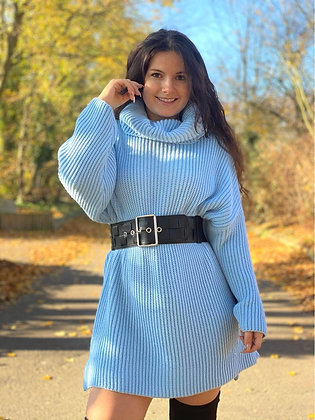 Robe pull bleu