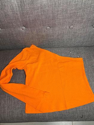 Haut asymétrique orange