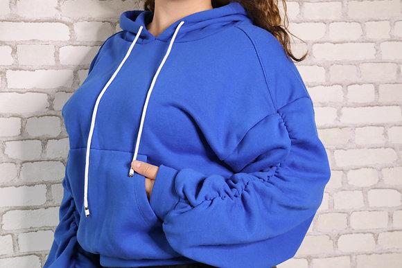 Sweat à capuche Bleu