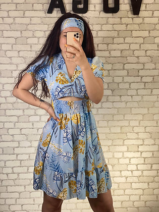 Robe Flora bleu