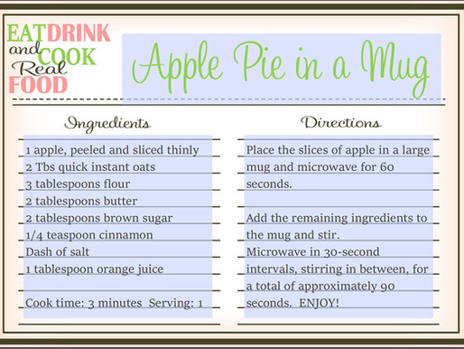 Apple Pie in a Mug