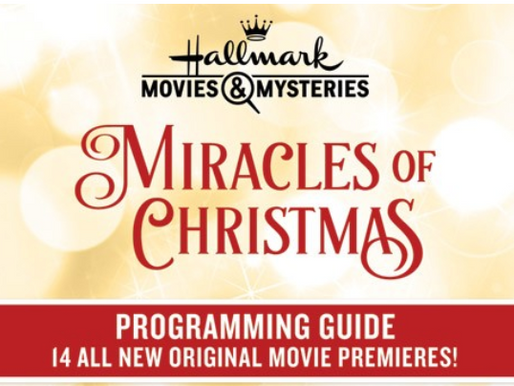 Hallmark Holiday Programming Schedules!