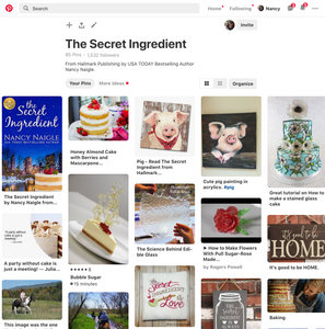 The Secret Ingredient, Pinterest Board