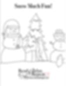 Nancy Naigle Christmas Coloring Book Page Snowmen