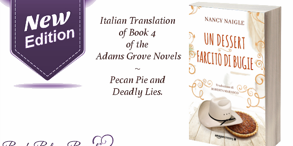 2019 BOOK RELEASE: Pecan Pie and Deadly Lies (Italian Translation)