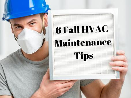 6 Fall HVAC Maintenance Tips