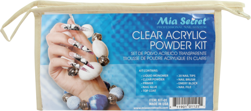 CLEAR ACRYLIC POWDER KIT