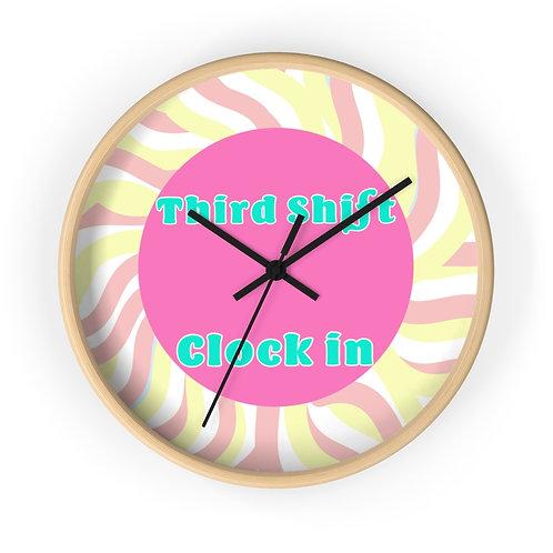 Third Shift Wall clock