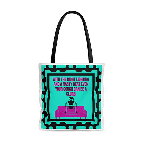 Clurb Couch AOP Tote Bag