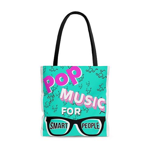 Pop Music For Smart People Logo AOP Tote Bag