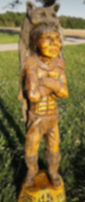 Indian Carving, Cigar Store Indian