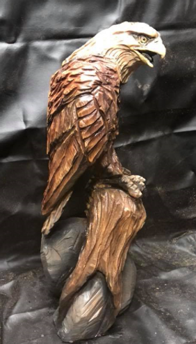 Chainsaw Art, Chainsaw Carved Eagle