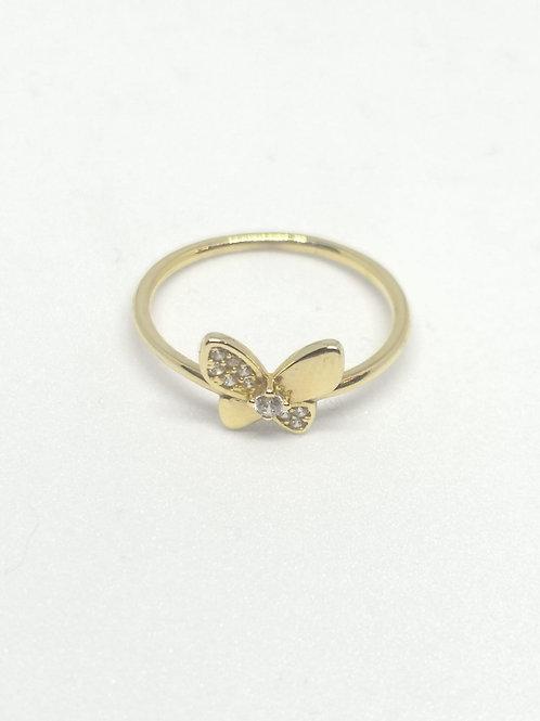 Çıtır Kelebekli Yüzük 14 Ayar Altın
