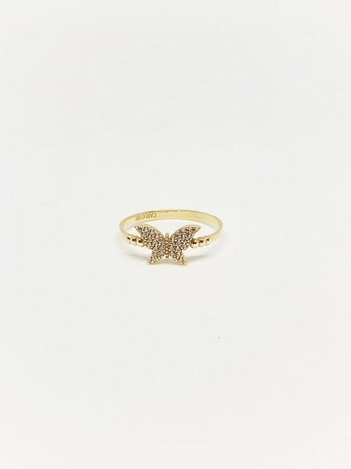 Kelebekli Çıtır Yüzük 14 Ayar Altın