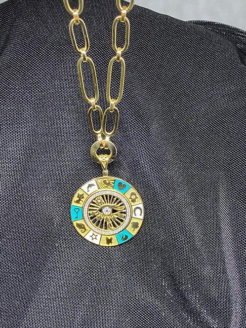 Şans Madalyonu ve Kolyesi 14 Ayar Altın