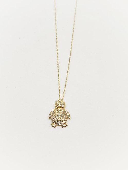 Kaplumbağa Kolye 14 Ayar Altın