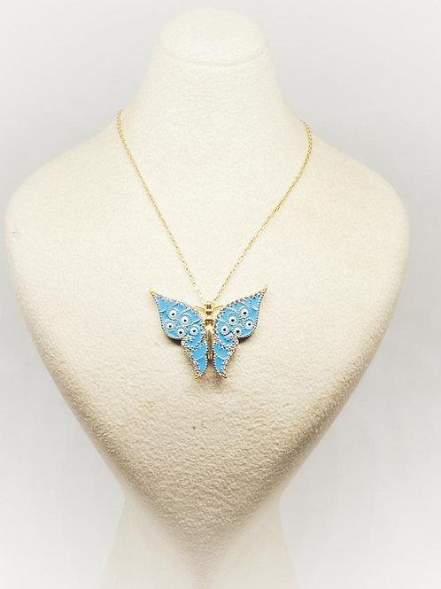 Kelebek Kolye 14 Ayar Altın