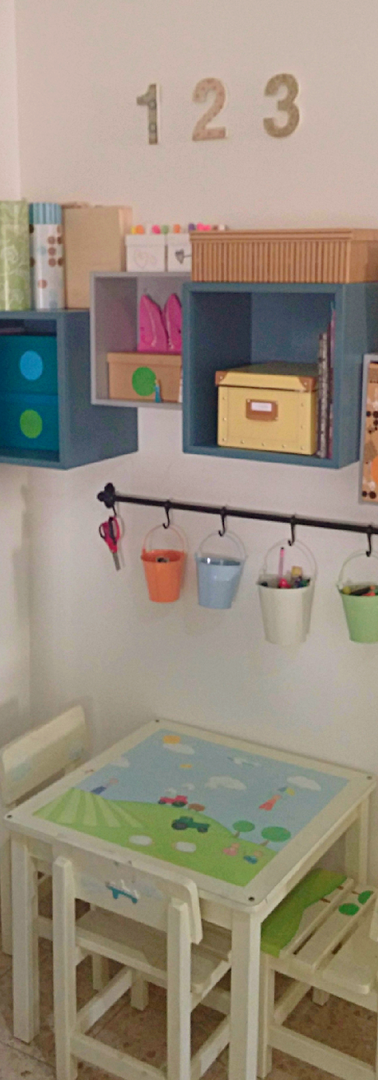 פינת עבודה  ילדים - עיצוב, פונקציונאליות, וסידור