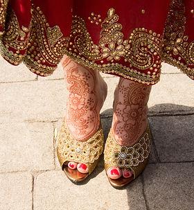 Bridal henna on feet. ©Delightful Imaging