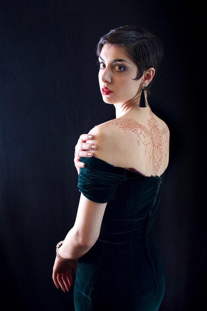 Henna on a back