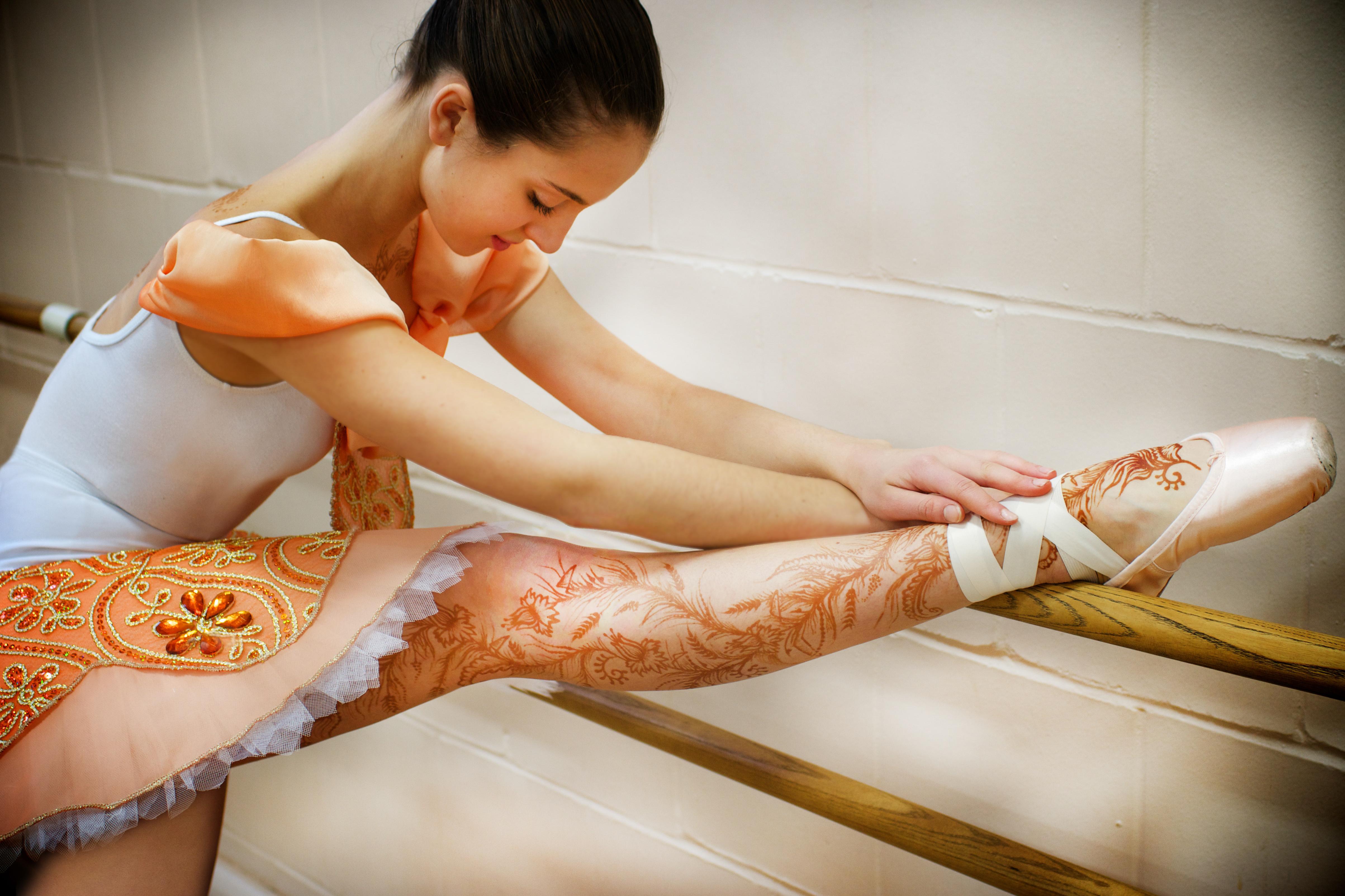 Henna on a ballerina.