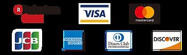 American Express,Diners Club,JCB,VISA,Discover,楽天