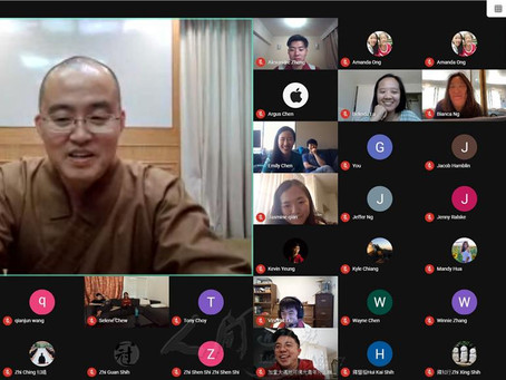 North American BLIA YADs participated in a virtual Buddhism class to strengthen their faith
