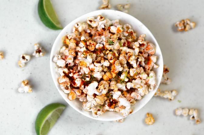 Sriracha Garlic Popcorn