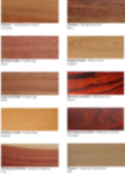 Hardwoods & Tropical woods
