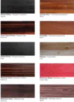 Wood patterns & colours