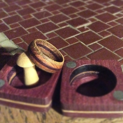 Wooden ring with case