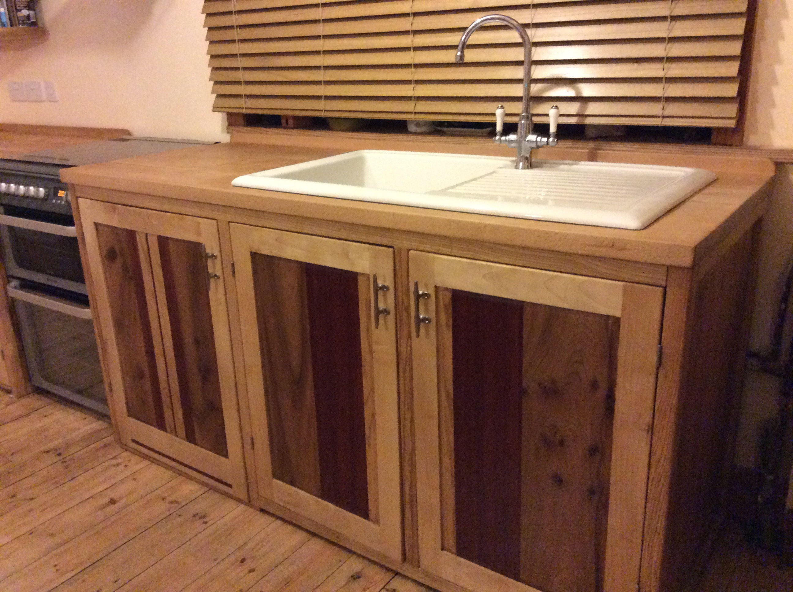 Kitchen Sink Unit With Dishwasher Space Two Cupboards Spalted