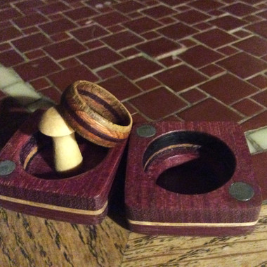 Wooden ring and case