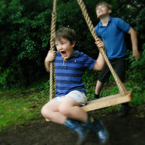 Large oak swing