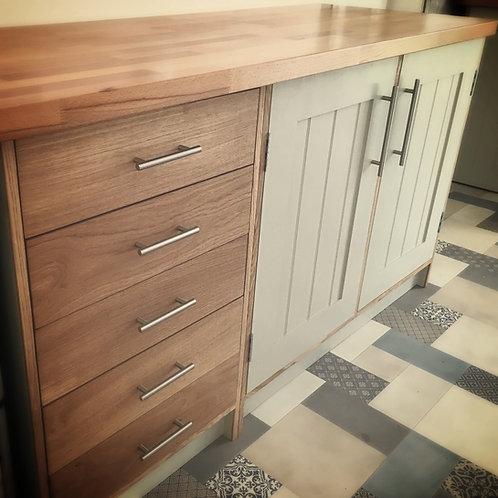 Solid Oak drawer unit.