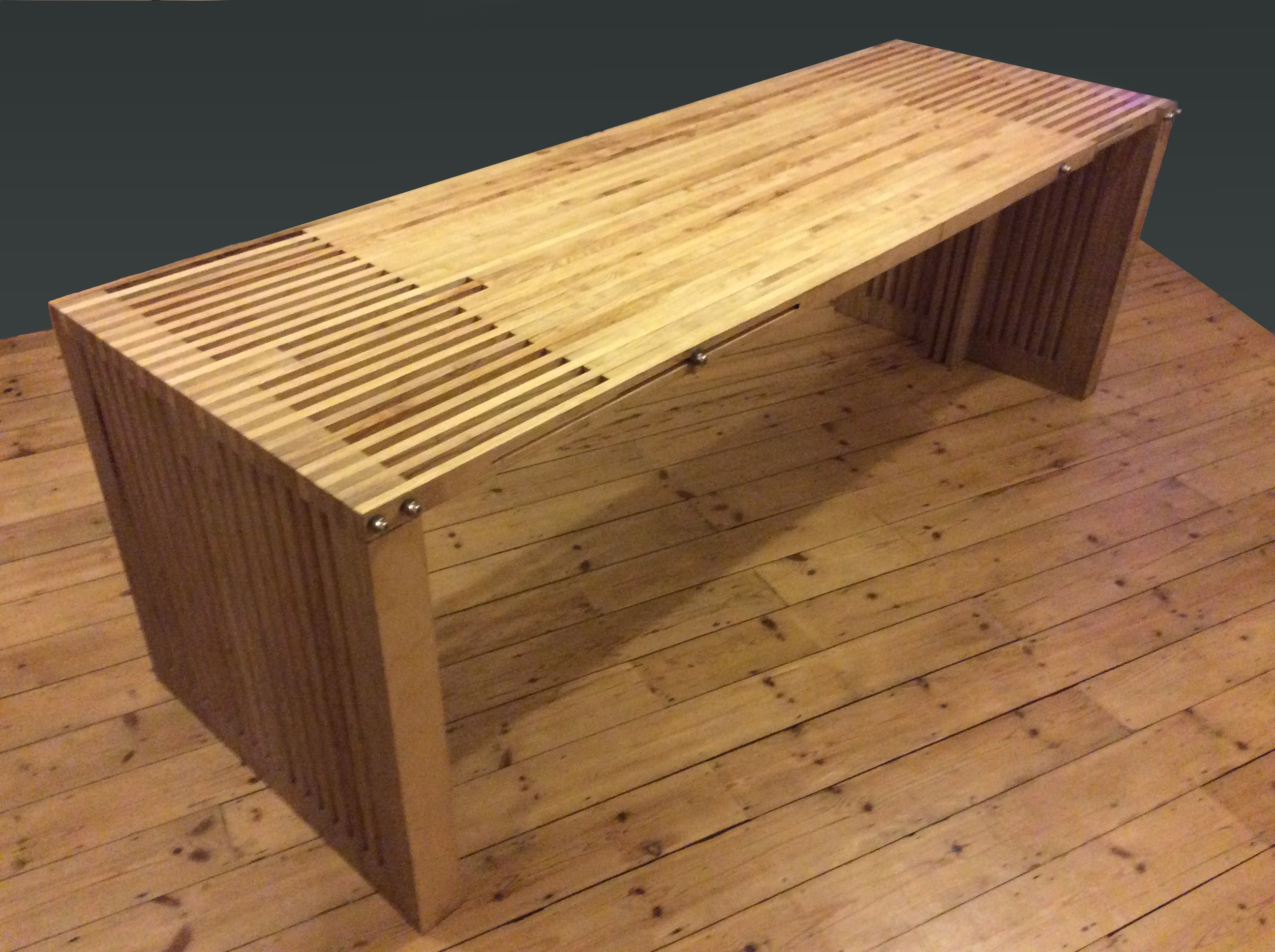 Ash and birch ply dining table