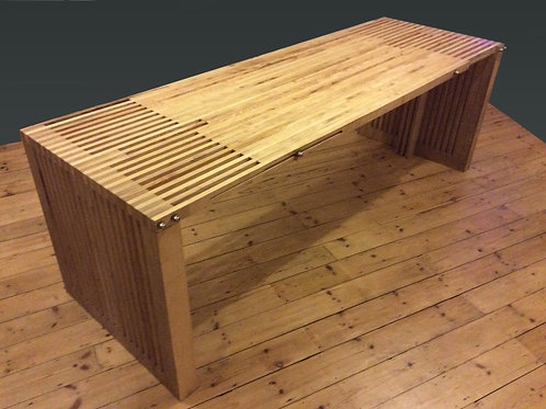 Solid ash and birch ply dining table