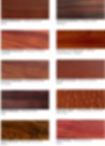 Grain & textures of varieties of wood